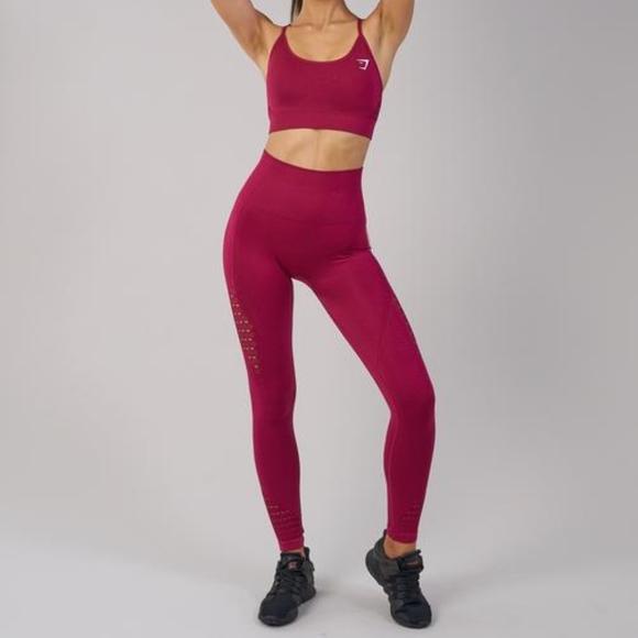 105eb87819045 Gymshark Pants - Gymshark Beet Energy Seamless High Rise Leggings